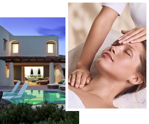 Imagen de un Spa by, Mujer que recibe un masaje de una esteticista