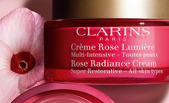 Tarro de Crème Rose Lumière con hibisco